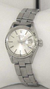 13A: Rolex Stainless Steel Ladies Watch