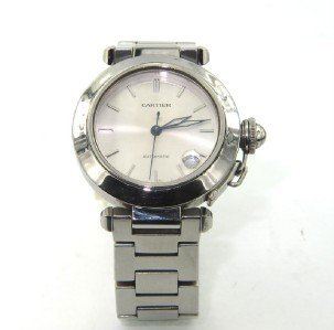 7A: Cartier Automatic Stainless Steel JustDate Watch