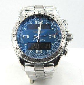 6A: Breitling Digital B1 Airwolf Blue Chronograph Watch