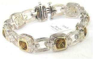 Charles Krypell Gold/Silver Citrine Bracelet