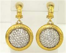 217: Gurhan 24K Yellow Gold Diamond Earrings