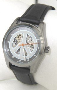 8: Lucky Brand Stainless Steel Leather Strap Watch