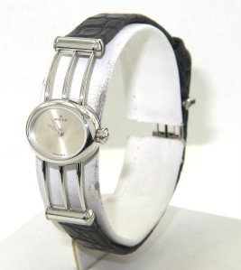 12: Milus Stainless Steel Leather Strap Watch