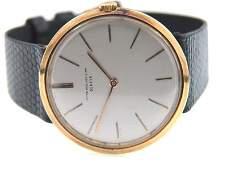 110: Patek Philippe 18K Yellow Gold Leather Strap Watch