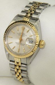 9A: Rolex  2 -Toned Stainless Steel Ladies Watch