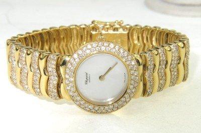 77: Chopard 18K Yellow Gold Diamond Lady's Watch