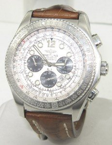 14: Breitling Stainless Steel Chronograph  Mens watch