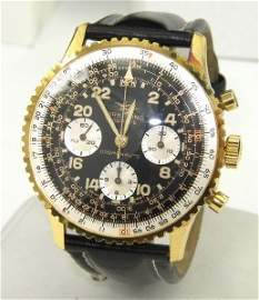 74B: Breitling 18K Gold / Stainless Steel Chronograph W