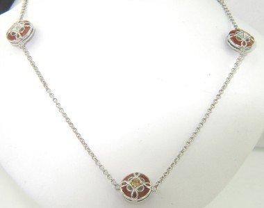 4: Silver Enamel & Citrine Necklace