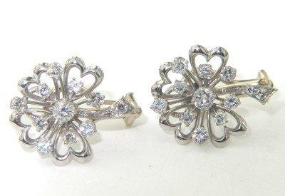 7: 14K 2-Toned Gold Diamond Earrings