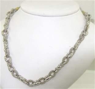 Judith Ripka Silver & 18K Yellow Gold Diamond Neckl