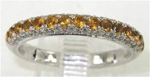 18K Yellow Gold Citrine & Diamond Ring
