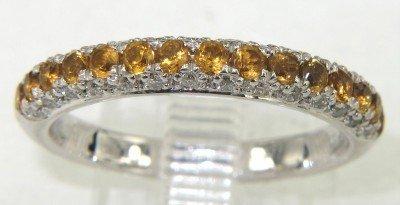16: 18K Yellow Gold Citrine & Diamond Ring