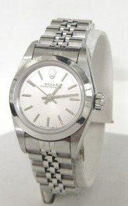 14A: Rolex Stainless Steel Ladies Watch
