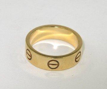 3A: Cartier 18K Yellow Gold  Ring