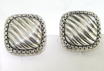 3: David Yurman Silver Earrings