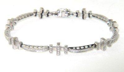 9: 18K White Gold Diamond Bracelet