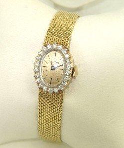 13: Geneve 14K Yellow Gold Diamond Watch
