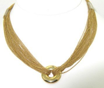 166: 166: Tiffany & Co 18K Yellow Gold Necklace