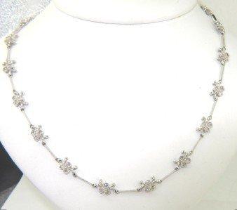 235: 235: 18K White Gold Diamond Necklace