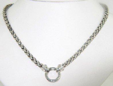 12: David Yurman Silver & Diamond Necklace