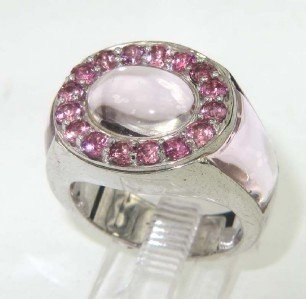 7A: Silver Pink Topaz Ring