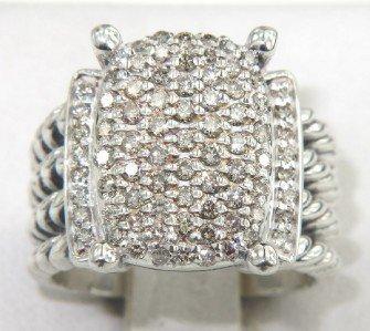 14: David Yurman Silver Diamond Ring