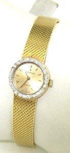 7: Movado 14K Yellow Gold Diamond Watch