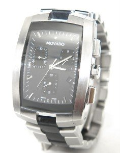 12: Movado Stainless Stee/Rubber Chronograph Watch