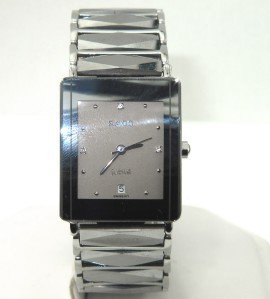 19: Rado Stainless Steel Diamond DateJust Mens Watch