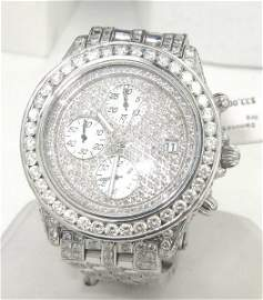 105A: Breitling Stainless Steel Diamond Chronograph Wat