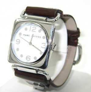 8: Marc Jacobs Stainless Steel Leather Strap Watch