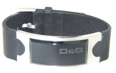 4A: Dolce & Gabbana Silver Leather Strap Bracelet