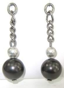 Dolce & Gabbanna Silver Pearl Earrings