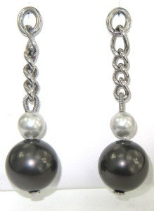 9A: Dolce & Gabbanna Silver Pearl Earrings