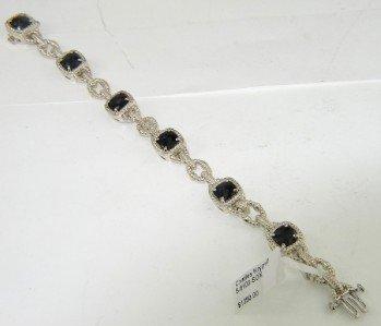 5B: Charles Krypell Gold/Silver Onyx Bracelet