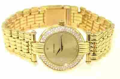 Bucherer 18K Yellow Gold Diamond Wrist Watch