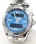 194: Breitling Stainless Steel Digital Mens Watch
