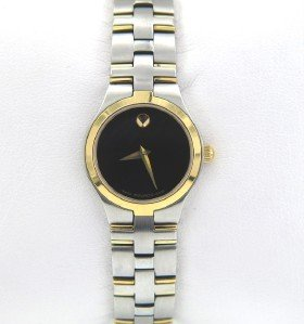 6B: Movado Stainless Steel & Gold Plated Watch