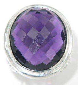 David Yurman Silver Amethyst Ring