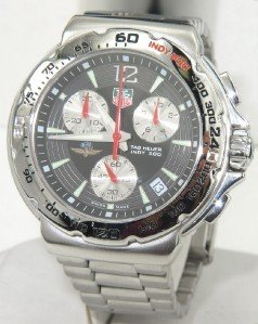 9: Tag Heuer Stainless Steel Chronograph Watch