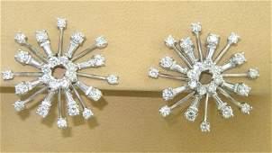 243: Platinum Diamond Earrings