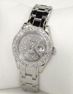 Rolex 18K White Gold Diamond DateJust Watch