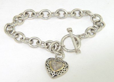 3: Town and Country Silver/14K Gold Diamond Bracelet