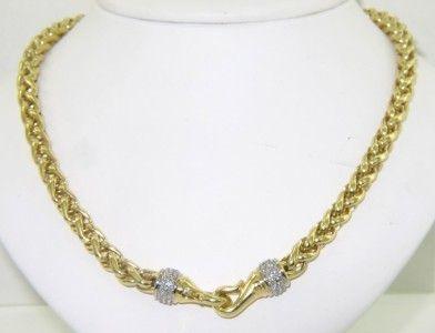 297: David Yurman 18K Yellow Gold Diamond Necklace