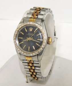 12A: Rolex 2-Toned Stainless Steel Diamond Watch