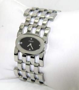 Fred Stainless Steel Diamond Ladies Watch