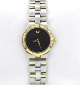 Movado Stainless Steel & Gold Plated Watch