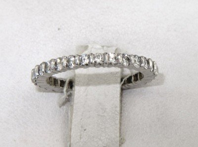 9B: Platinum Lady's Diamond Eternity Band With Certific