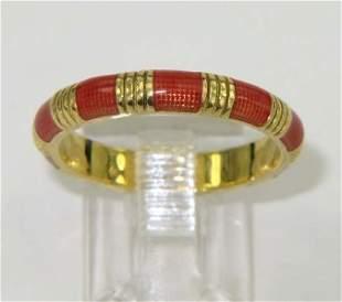 Hidalgo 18K Yellow Gold Enamel Ring